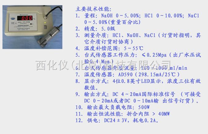 酸碱浓度计 型号:SYN-2