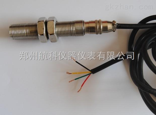 产品说明: HD-SZCB-01磁阻式转速传感器采用电磁感应原理来达到测速目的。具有输出信号大、抗干扰性能好等特点,不需外接电源,可在烟雾、油气、水气等恶劣环境中使用。 技术参数 直 流 电 阻:150Ω~200Ω(25)。 测速齿轮形式:模数2~4(渐开线齿轮)。 使 用 温 度:-10~+120。 抗 振 动:20 g 。 螺 纹 规 格:Φ16传感器(M16×1)。 重 量:约120g。