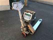 3吨不锈钢手动液压搬运秤 防水电子叉车秤