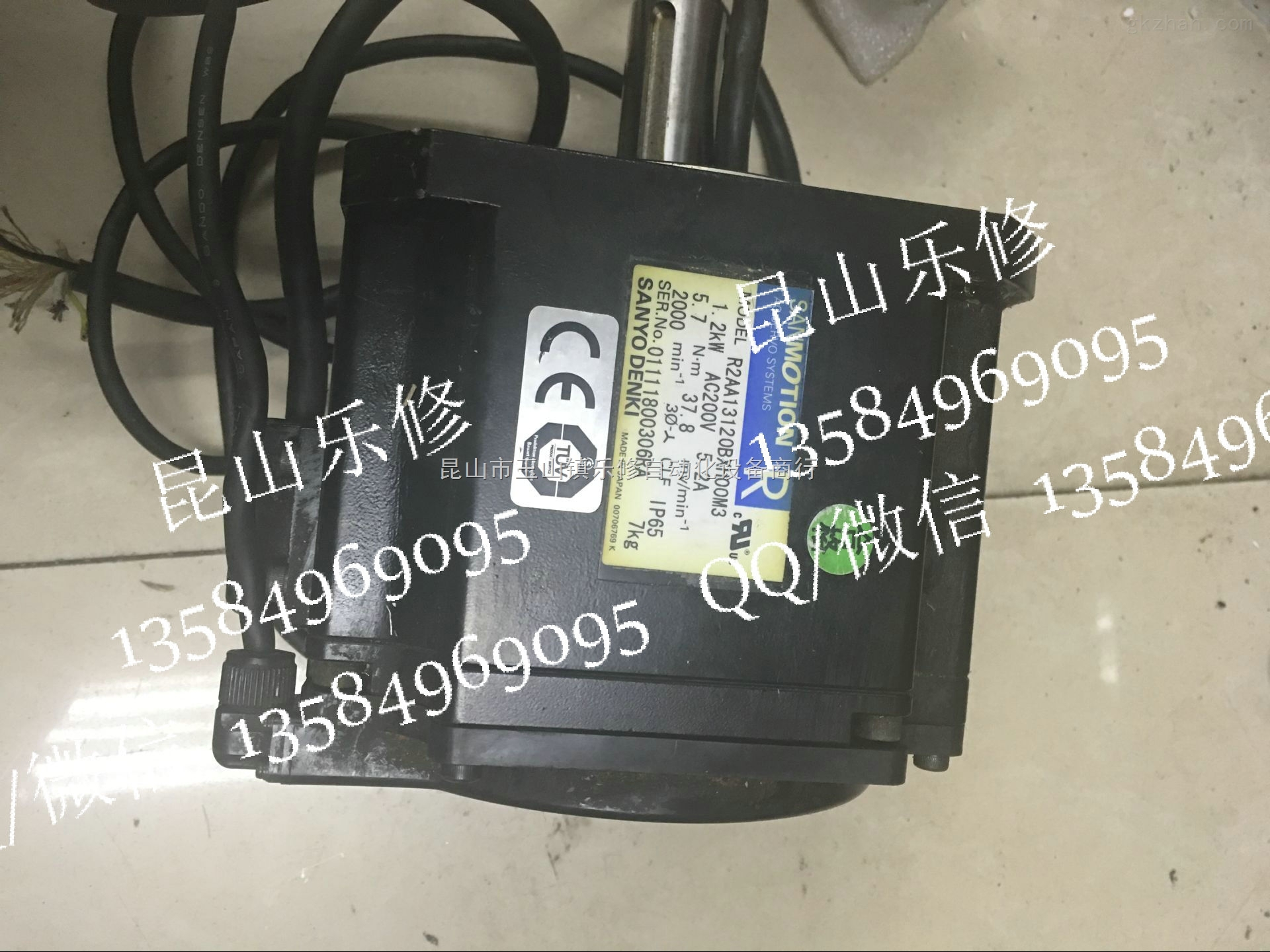 三洋伺服电机维修 r2aa13120bxh00m3维修编码器调试