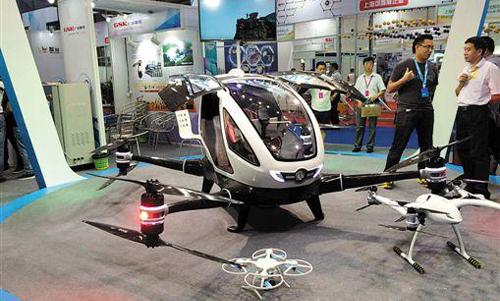全球首款载人无人机亮相 未来可用于应急救援