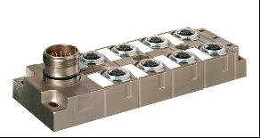 坚固,耐腐蚀,高密封8口座分线盒插座式PNP型双信号