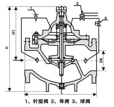 自贡SCZG水力控制阀 800X压差旁通平衡阀