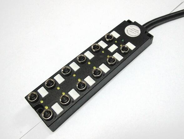 上海科迎法电气科技有限公司配备的新品12位分线盒,直接预制出现,线缆长度可按照实际需要发货。,现场接线快速便捷。具有现场诊断功能,LED 可显示I/O状态。可提供4路/8路的单信号和双信号分配器,12路双信号分线盒可外接24个传感器。外接传感器信号PNP、NPN、电磁阀类可选。提供用于传感或执行器连接用的各种电缆。