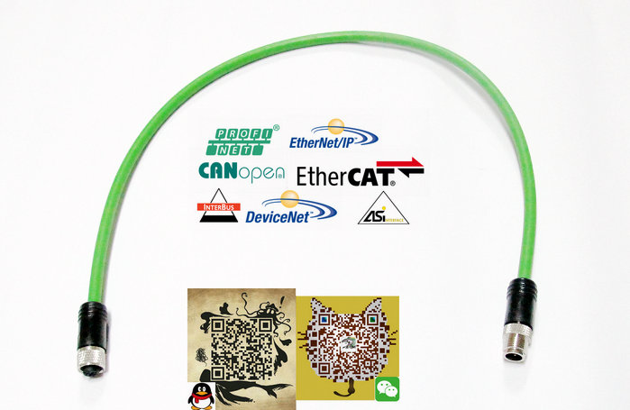 总线技术EtherCAT电缆连接器