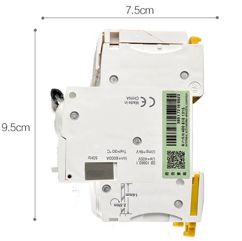 施耐德小型断路器 ic65n 1p c50a
